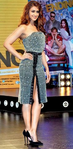 Ileana D'Cruz at the music launch of 'Happy Ending'.