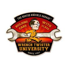 Retro Wrench Twisters Custom Shape Metal Sign  21 x 7 Inches, $32.98 (http://www.jackandfriends.com/retro-wrench-twisters-custom-shape-metal-sign-21-x-7-inches/)