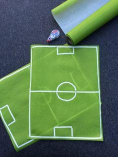DIY soccer place mats