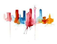 Elena Romanova abstract watercolour - Seattle. Elena has an Etsy shop and prints of her work are available for sale at reasonable prices. http://www.etsy.com/shop/PortLove?page=1
