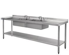 commercial stainless steel sink with anti spill edge