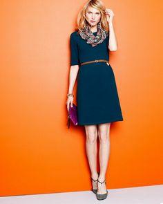 Retro Ponte Knit Dress