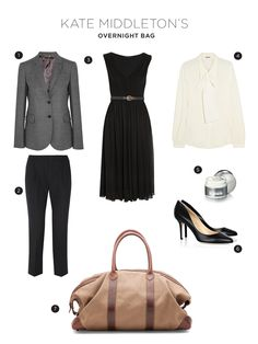Overnight packing inspired by Kate Middleton #cuyana #overnight