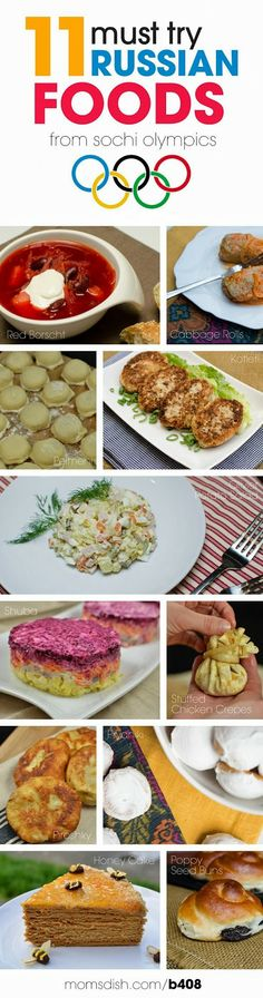 11 must try Russian foods from Sochi Olympics I've had a few of these!(: 11 must try Russian foods from Sochi Olympics I've had a few of these! Russian Dishes, Russian Foods, Russian Red, Ukrainian Recipes, Russian Recipes, Ukrainian Food, Croatian Recipes, Hungarian Recipes, Great Recipes