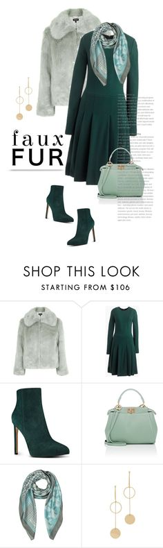 """Faux Fur Coats"" by bliznec ❤ liked on Polyvore featuring Topshop, J.Crew, Nine West, Fendi, Mila Schön, Cloverpost, polyvoreeditorial, polyvorecontest and fauxfurcoats"