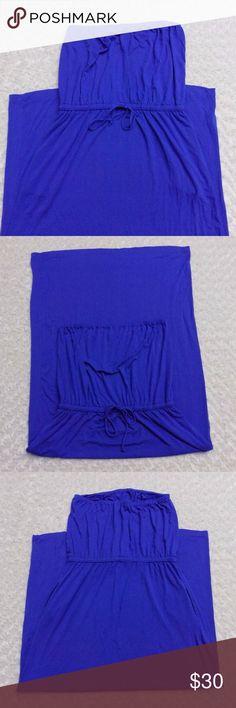 J.crew Blue Strapless Maxi Tube Top Summer Dress J.crew Blue Strapless Maxi Tube Top Summer Dress J. Crew Dresses Maxi