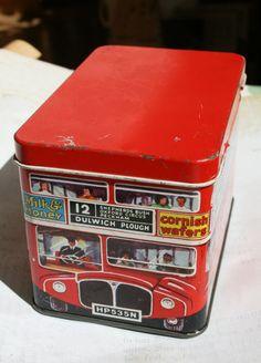 Huntley & Palmer's London bus tin by Tinternet on Etsy