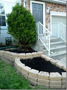 Front yard landscaping wall