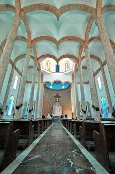 Unusual Church Interiors: Iglesia Cristo Rey, Mazatlan, Mexico
