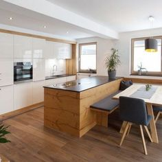Familien Küchen - Mari Ba - Bild - New Ideas Family Kitchen, Kitchen Pantry, Home Decor Kitchen, Interior Design Kitchen, New Kitchen, Kitchen Dining, Country Kitchen, Scandinavian Kitchen, Apartment Kitchen