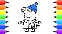 Peppa Pig Snowy Winter - Coloring Pages Peppa Pig Nurse, Snow for Kids -...