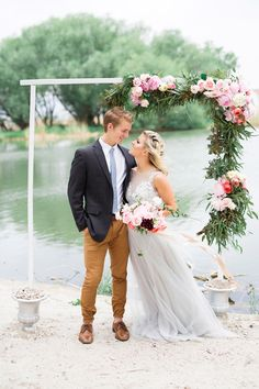 - One of my favorite shoots is being featured on today! A dreamy lakeside elopement shoot! I'm so excited! Spring Wedding Flowers, Romantic Flowers, Lakeside Wedding, Boho Wedding, Alta Moda Bridal, Floral Arch, Bridal Shoot, Boho Bride, Floral Design