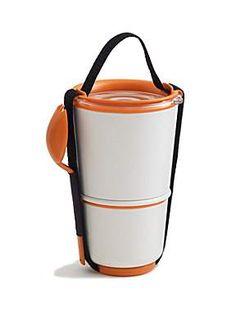 Black + blum Lunch pot, orange @ House of Fraser