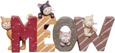 Meow Resin Word at KP Creek Gifts