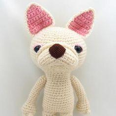 Crepe the French Bulldog amigurumi pattern by Emi Kanesada (Enna Design)
