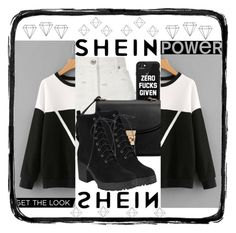 """""""contest shein ~♤~"""" by hibaabeed ❤ liked on Polyvore featuring River Island, Casetify, MANGO and Umbra"""