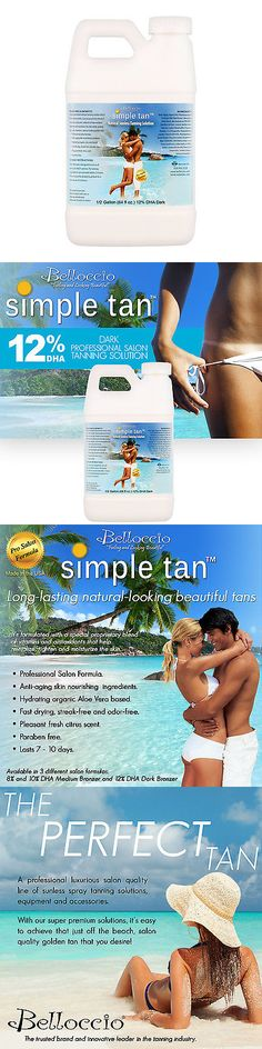 Other Sun Protection and Tanning: 1/2 Gallon Belloccio Simple Tan 12% Dha Sunless Airbrush Spray Tanning Solution BUY IT NOW ONLY: $54.96