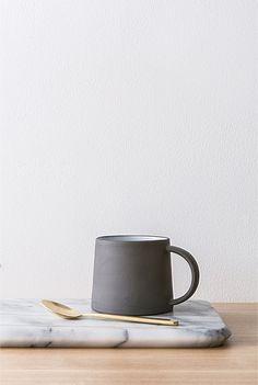 slate mug   scandinavian inspired homeware