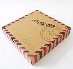 Gusto Pizza Packaging Design PD
