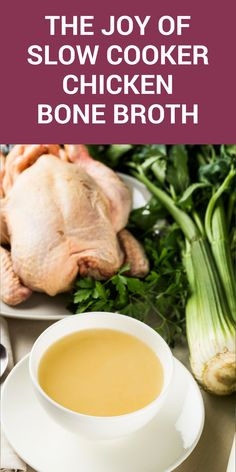 How to make crock pot chicken bone broth