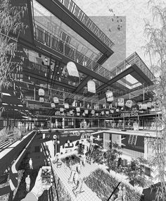 Architectural Drawing Image 77 of 81 from gallery of The 80 Best Architecture Drawings of 2017 (So Far). © Duy Tran - Image 77 of 81 from gallery of The 80 Best Architecture Drawings of 2017 (So Far). Architecture Graphics, Architecture Drawings, Architecture Portfolio, Futuristic Architecture, Sustainable Architecture, Amazing Architecture, Landscape Architecture, Architecture Design, Classical Architecture