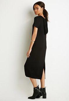 Hooded Longline T-Shirt Dress   Forever 21 - 2000095008