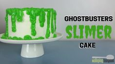 Ghostbusters Slimer Cake
