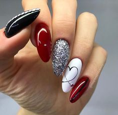 40 Stunning Glitter Nail Designs Ideas to Beautify Your Nail Many women prefer to visit the hairdresser … White Nail Designs, Short Nail Designs, Nail Art Designs, Nails Design, Easy Diy Valentine's Nails, Simple Nails, Classy Nails, White Nails, Pink Nails