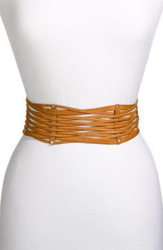So many cute spring dresses need finishing with a wide leather belt - love this one!
