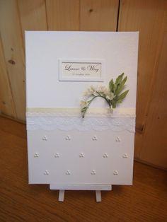 Pegeo Wedding Certificate Holder / pearl drops
