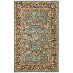 Amazon.com - Safavieh Heritage Collection HG812B Handmade Wool Area Rug, 5-Feet by 8-Feet, Blue and Brown -