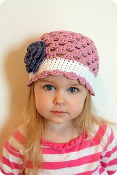 crocheted girly hat