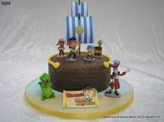 Jake round celebration cake http://www.cakescrazy.co.uk/details/jake-neverland-cake-9068.html