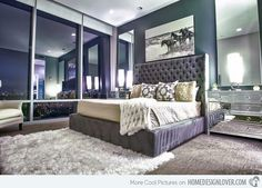 15 Sample Photos Of Decorating With Mirrored Furniture In The Bedroom