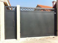 Gate Wall Design, Grill Gate Design, House Main Gates Design, House Fence Design, Steel Gate Design, Front Gate Design, Gate Designs Modern, Modern Fence Design, Modern Entrance Door