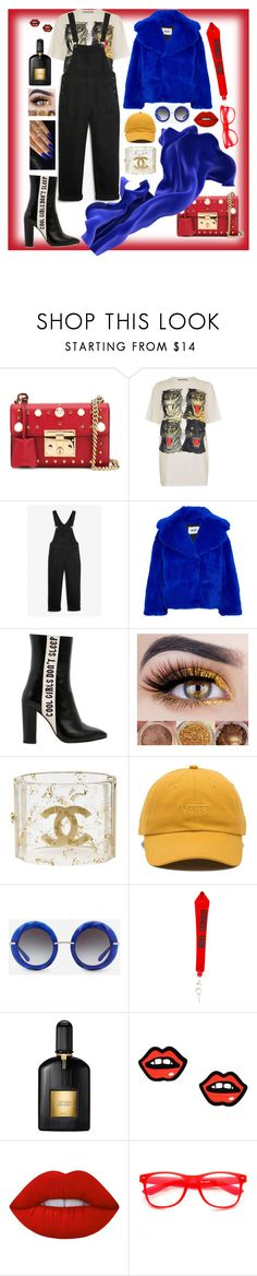 """""""🔥"""" by apricoto on Polyvore featuring Gucci, Monki, MSGM, Havva, Chanel, Vans, Dolce&Gabbana, Givenchy, Tom Ford and George J. Love"""