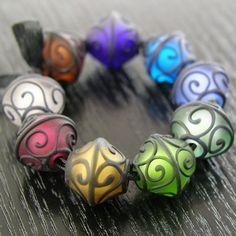 lampwork glass beads - Google Search