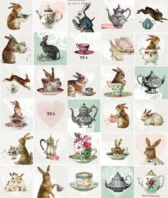 "le-lapin-blanc: "" "" I died and went to my kind of heaven; Bunnys and Tea. "" i agree, simply LOVE this! :) """