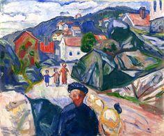 Edvard Munch - Street In Krager