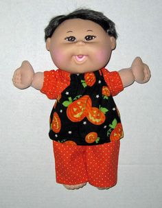 Cabbage Patch Babie Halloween Pumpkins Black and  by Dakocreations, $13.99