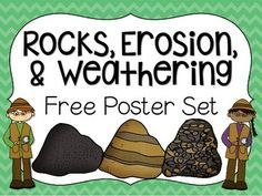 this FREE poster set! Use it to help your students remember key information about the types of rocks, erosion, & weatheringEnjoy this FREE poster set! Use it to help your students remember key information about the types of rocks, erosion, & weathering Rock Science, Fourth Grade Science, Elementary Science, Middle School Science, Science Classroom, Teaching Science, Science Education, Classroom Ideas, Kindergarten Science