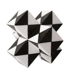 Kelly Wearstler Marble Trapezoid Sculpture - Black-White - Size No Siz Kelly Wearstler, White Home Decor, Luxury Home Decor, Memphis Art, White Chic, Sculpture, Handmade Home Decor, Eclectic Decor, White Patterns