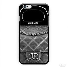 Black Wallet Coco Chanel Bag Photo Image inspiret iPhone Cases Case