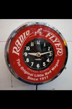 Radio Flyer Clock