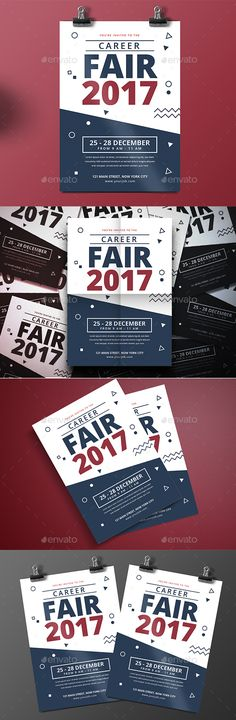 Career Fair #Flyer - Corporate #Business #Cards Download here:  https://graphicriver.net/item/career-fair-flyer/20308924?ref=alena994