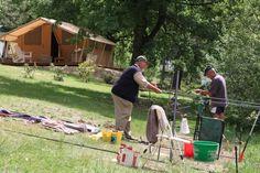Nouveauté 2012 : Cotton Lodge Nature #glamping #insolite #nature #peche  http://www.camping-bazange-dordogne.com/francais/h%C3%A9bergements-insolites-et-glamping/tentes-lodge-luxe/