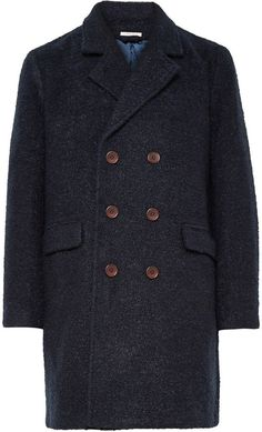 $450, Gant Rugger Double Breasted Boucl Overcoat. Sold by MR PORTER. Click for more info: https://lookastic.com/men/shop_items/336623/redirect