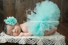 Newborn Tutu Aqua Tutu Sweet Aqua Blossom Tutu Newborn Tutu Custom Made With Matching Flower Headband Stunning Newborn Photo Prop