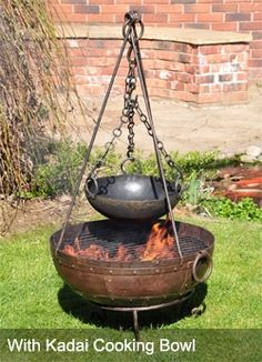 Kadai firebowl and cooking bowl from http://www.castinstyle.co.uk