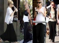 Nicole Richie Maternity style